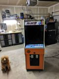 The cabinet as I received it; an Arkanoid conversion.