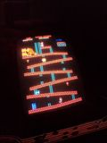 Donkey Kong running on the finished cabinet.